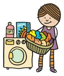 Image result for do the laundry clipart