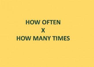 Diferença entre HOW OFTEN e HOW MANY TIMES