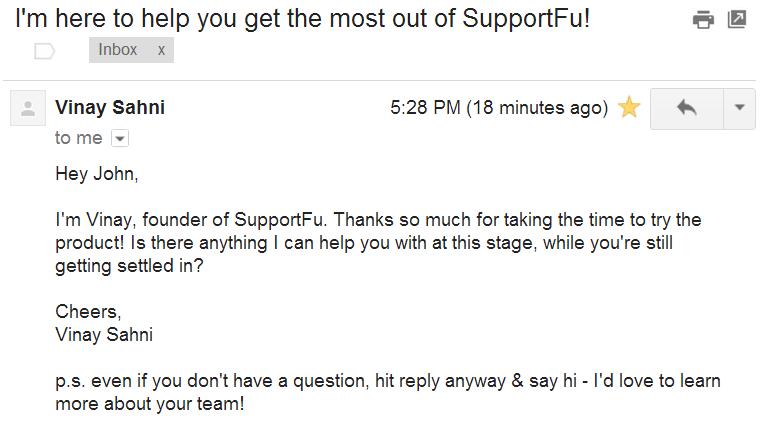 e-mail de boas vindas em inglês