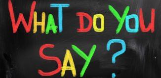 Significado de what do you say